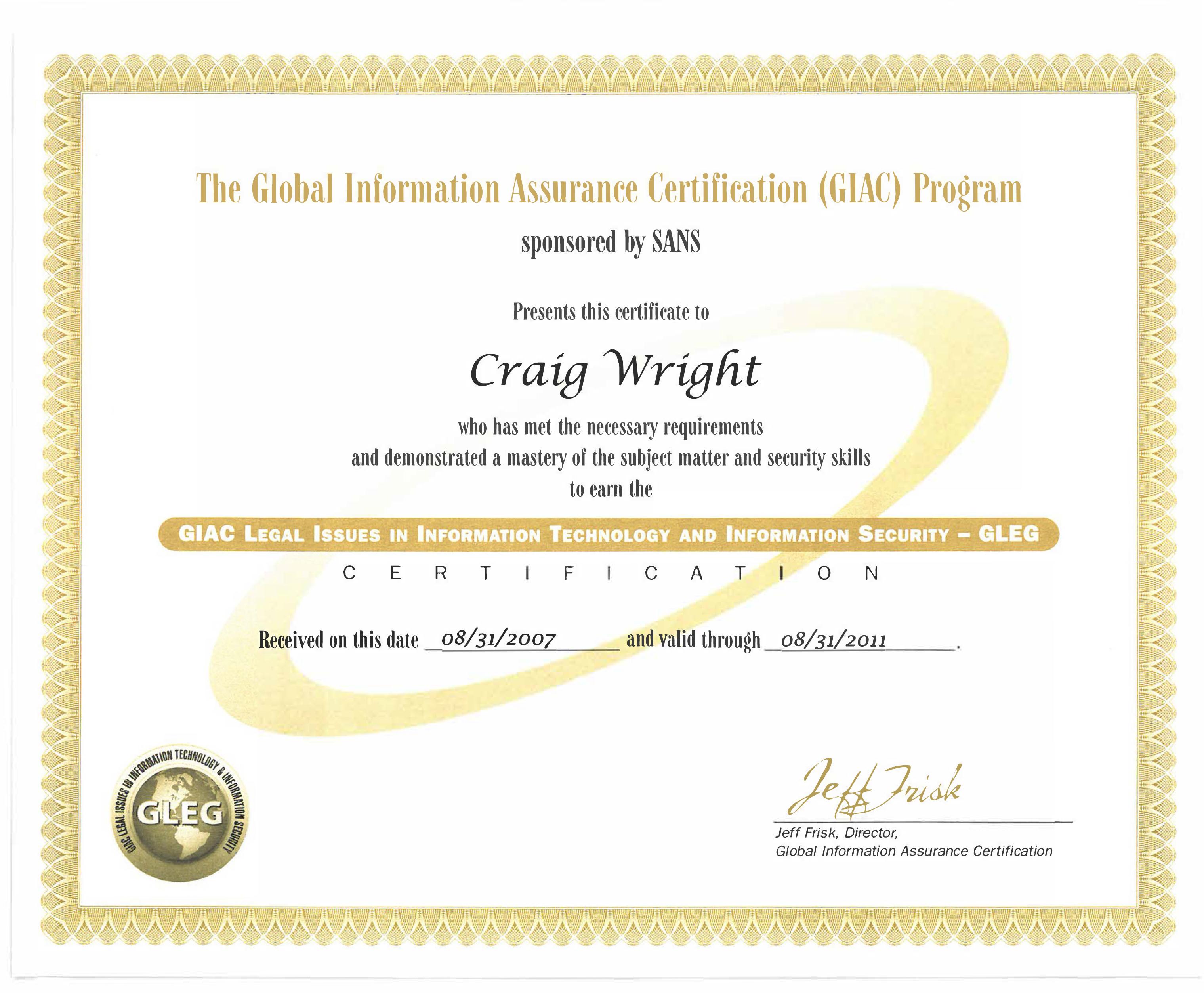 Craig Wright - About Craig