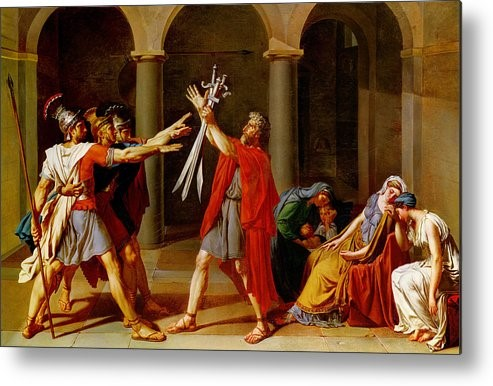 The Oath of the Horatii Metal Print by Jacques Louis David